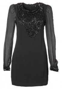 French Connection REBECCA BEADS - Kleid - black bei Zalando