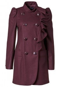 French Connection WINTER SUN WOOL COAT - Mantel - port