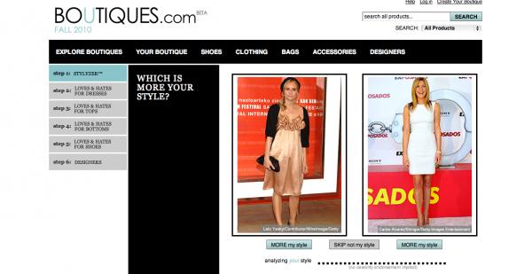 Google Portal: Boutiques.com