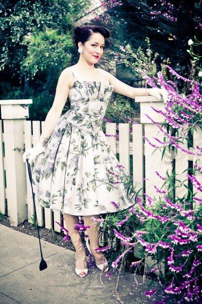 Lena Hoschek Blumenprint-Kleid FS 2011