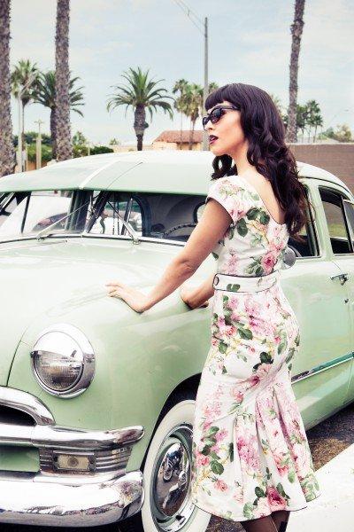Lena Hoschek geblumtes Sommerkleid Kollektion 2011