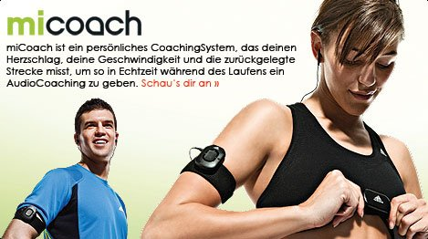 adidas miCoach - neues Coaching-System