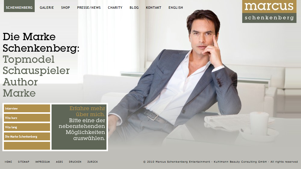 Website Marcus Schenkenberg