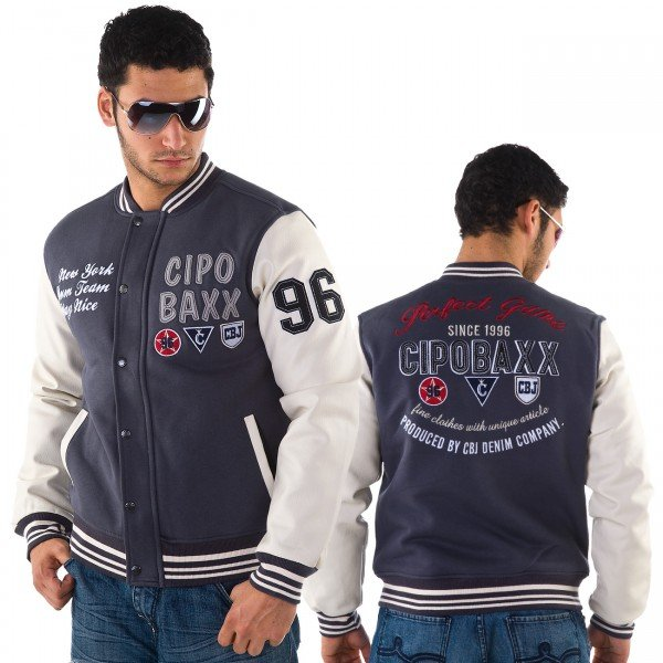 """College Jacke der Marke """"Cipo & Baxx"""", ca. € 55,-"""