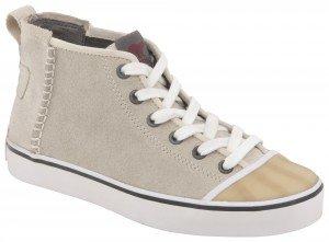 Sorel Damen Stoff Sneaker Sand mit Gummi-Zehenkappe, Sentry Mid, ca. € 110,-