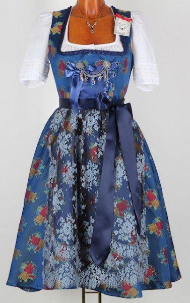 Dirndl Greta Blau Multi, ca. 700 Euro