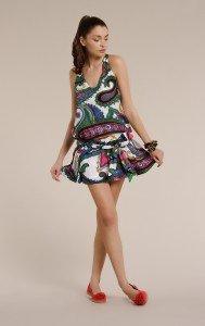 miss-sixty-alizee-minikleid-mit-abstraktem-floralem-print-in-gruen-weiss