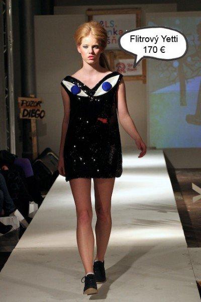 Im Rahmen der myCentrope Fashion Show zeigt die Designerin die Serie POĽOVAČKA NA YETTIHO (Hunting for Yetti, 2011)