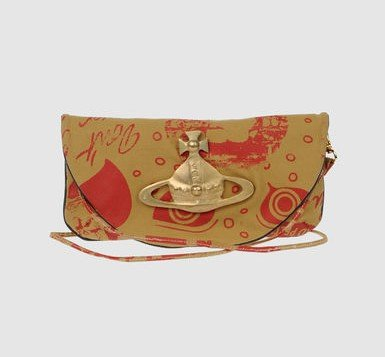 Taschen Design - VIVIENNE WESTWOOD ETHICAL FASHION AFRICA - Exklusiv für yoox.com Bedruckte Leinenpochette mit Messinglogo und praktischer Innentasche