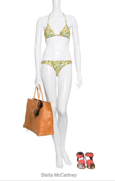 Bikini von Stella Mc Cartney, ca. 300 Euro, gesehen bei mytheresa.com