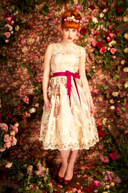 Lena Hoschek: Brautkleid kurz im Fifties Style