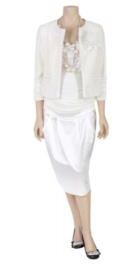 weißes Hochzeits-Outfit