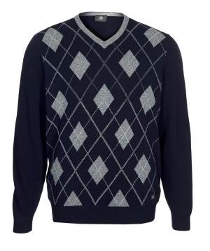 Herren-Pullover dunkelblau