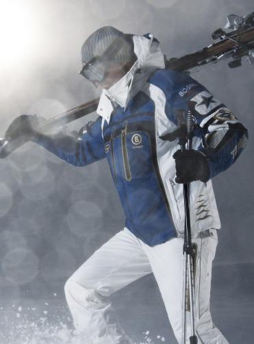 Bogner Herren-Skijacke indigoblau/offwhite