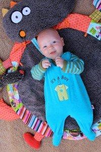 Babystrampler türkis