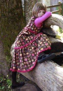 Volants-Kinderkleid