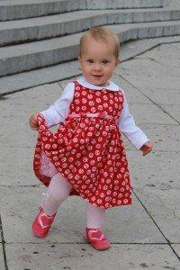 Kinder-Kleidchen rot