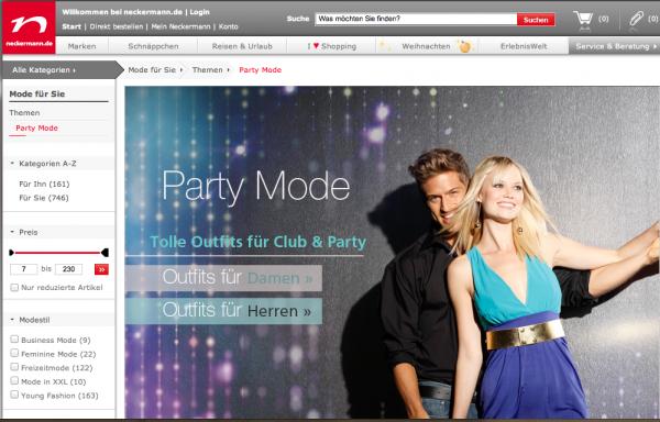 Party-Mode bei Neckermann online kaufen