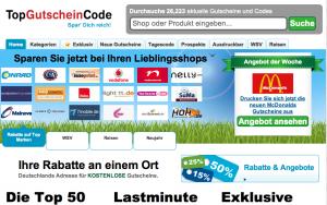 Top-Gutscheincode Homepage