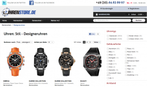 Designeruhren für Männer online kaufen
