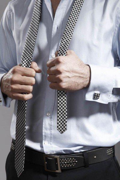 Krawatte schwarz-weiß, Sonja Kampy