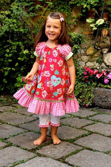 rotes Hängerkleid für Mädchen