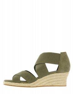 Sandalen grün, Keilabsatz