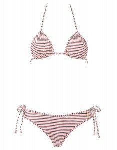 Bikini, helle feine Streifen