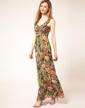 Maxi-Sommerkleid, Blumenmuster