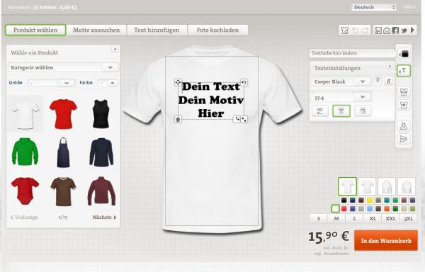 T-Shirt Designer online