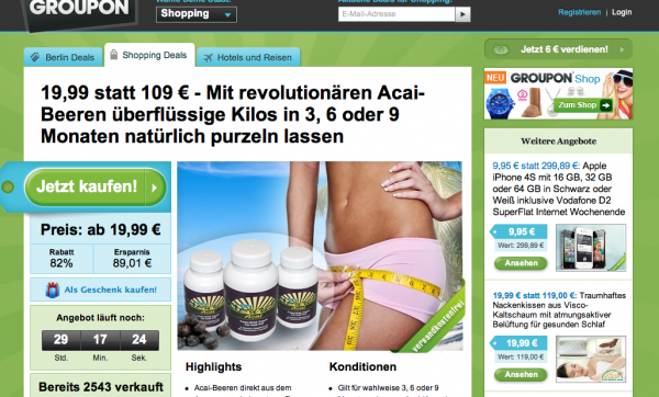 Groupon Deutschland Website