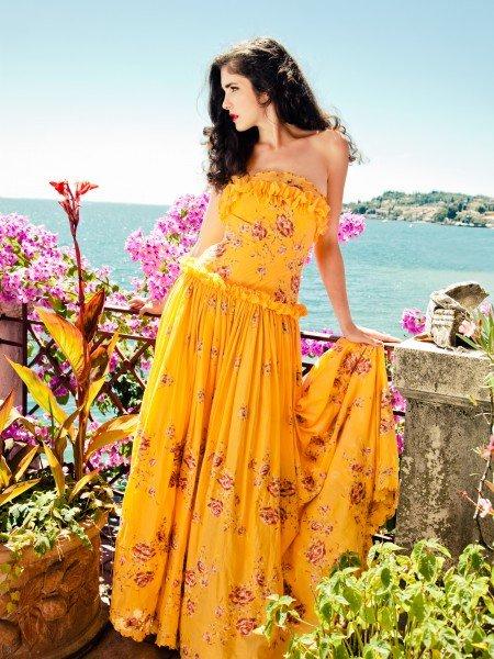 Sommerkleider 2012 Lena Hoschek, Maxi Kleid aus Seidenmousseline