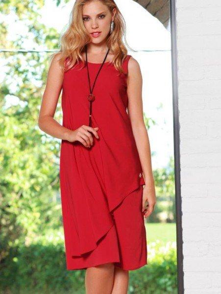Rotes Hängekleid von Wenz
