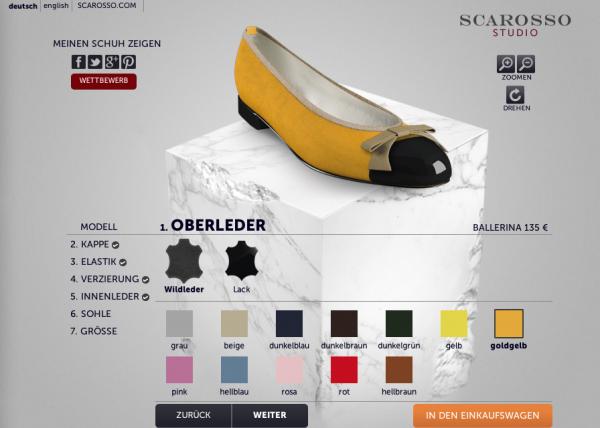 www.scarosso.com - Ballerina Konfigurator