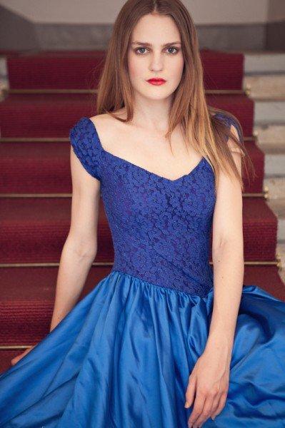 Sommerkleid blau, elegant, Jay Nebril