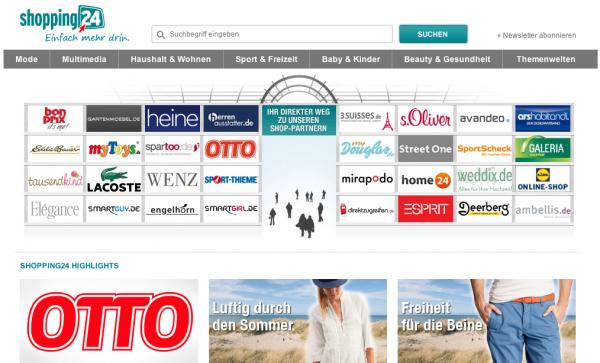 ... über 500 online Shops unter einem Dach