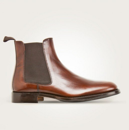 Scarosso Chelsea Boots rotbraun