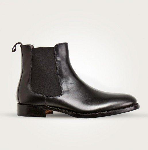 Scarosso Herren Chelsea Boots schwarz