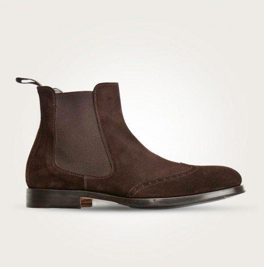 Scarosso Herren Chelsea Boots braun