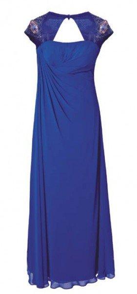 Abendkleid blau, lang