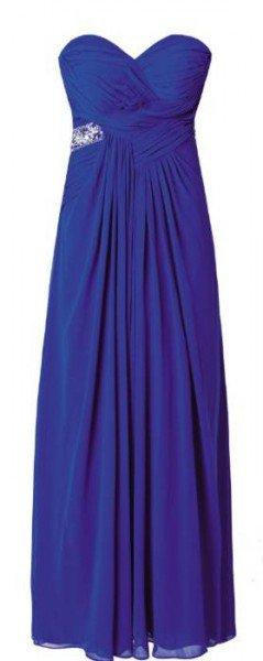 Bustierkleid blau mit Schmuckdetail